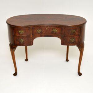 antique kidney shape mahogany desk