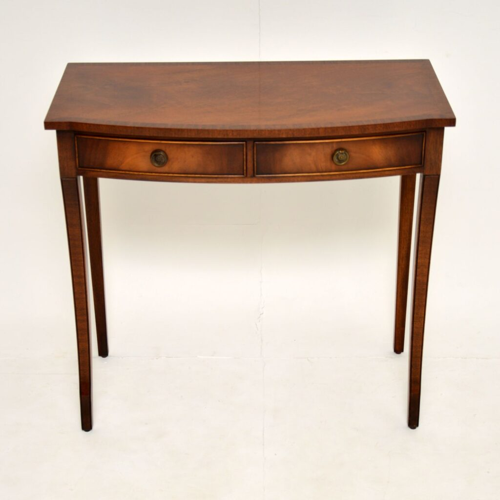 antique regency mahogany console side table writing table desk