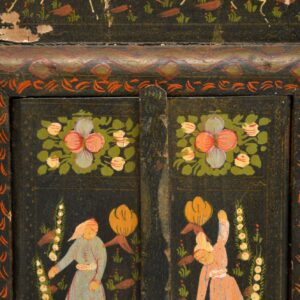 antique persian painted mirror