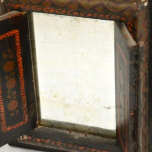 antique persian iranian painted wood mirror