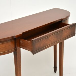 antique regency mahogany console side table