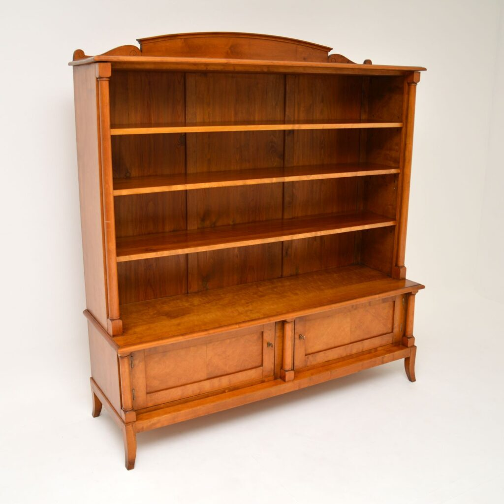 antique swedish satin birch biedermeier bookcase