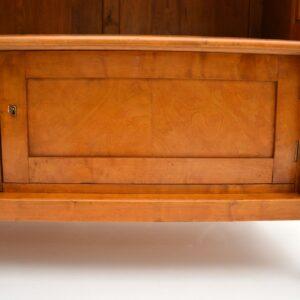 antique swedish satin birch biedermeier bookcase