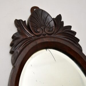 antique victorian carved mahogany mirror shelf