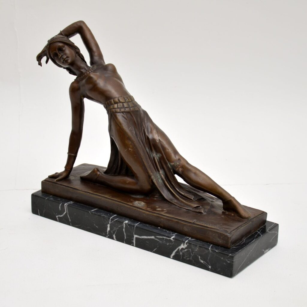 art deco bronze sculpture dancer figure dh chiparus