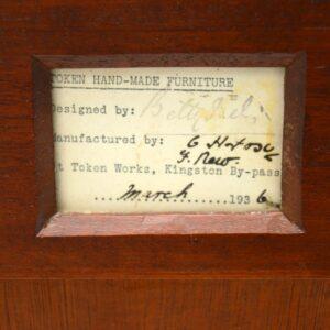 art deco mahogany walnut chest of drawers sideboard betty joel