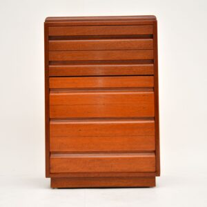 art deco mahogany bedside side chest of drawers by Betty Joel