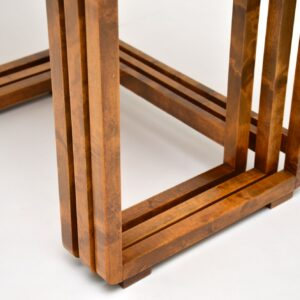 Original Art Deco Walnut Nest of Tables