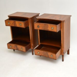 pair of antique georgian regency mahogany bedside cabinets