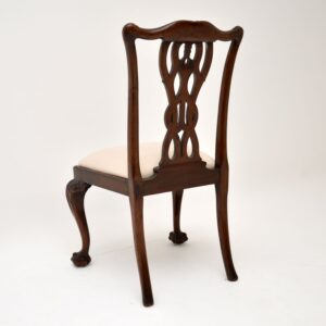 set of 8 antique mahogany chippendale dining chairs hille