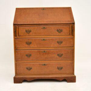 antique georgian walnut writing bureau