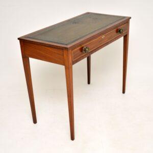 Antique Sheraton Period Inlaid Mahogany Writing Table Desk
