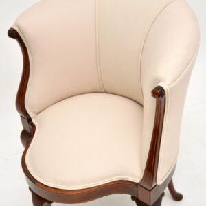 antique georgian edwardian queen anne mahogany corner tub armchair chair