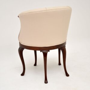 Antique Edwardian Inlaid Mahogany Tub Chair