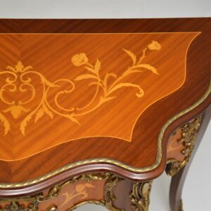 antique french inlaid marquetry ormolu console table
