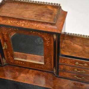 antique french inlaid walnut desk escritoire bonheur du jour