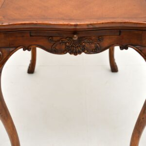 Antique French Carved Satin Wood Occasional Table