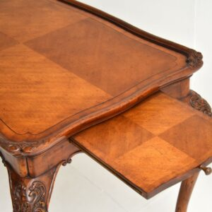 antique french satin wood walnut side occasional table