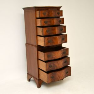 antique mahogany chest on chest of drawers