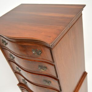 Antique Mahogany Serpentine Chest on Chest