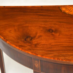 antique georgian sheraton irish inlaid mahogany console table