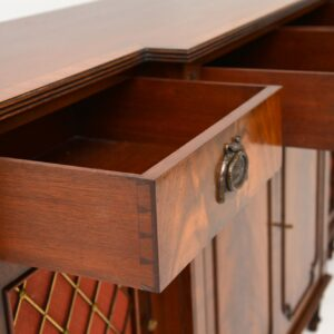 antique regency grill front mahogany sideboard