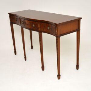 antique georgian sheraton regency mahogany side console server table