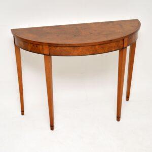 Antique Sheraton Style Pollard Oak Console Table