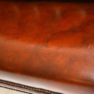 antique leather mahogany gainsborough sofa