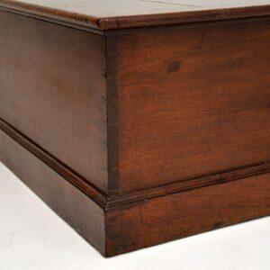 antique georgian mahogany blanket chest ottoman