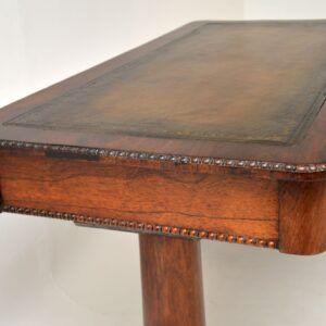 antique william IV victorian rosewood desk writing table