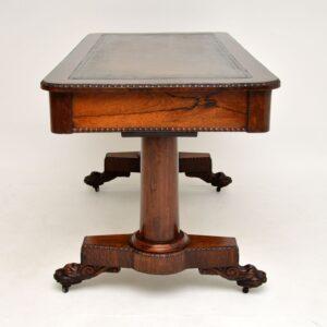 Antique William IV Rosewood Desk / Writing Table