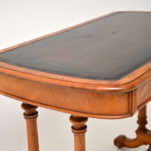 antique victorian satin wood desk writing table heal and son