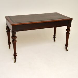 Antique William IV Mahogany Leather Top Writing Table