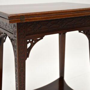 Antique Edwardian Mahogany Tea Or Card Table
