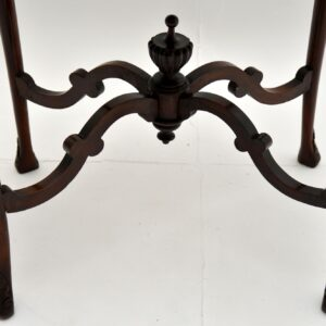 antique victorian carved mahogany occasional side table