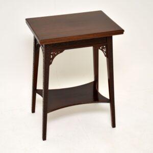antique victorian mahogany flip top side table