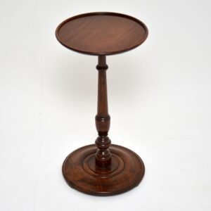 antique mahogany wine side occasional table
