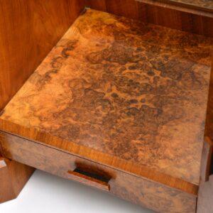 art deco burr walnut antique dressing table