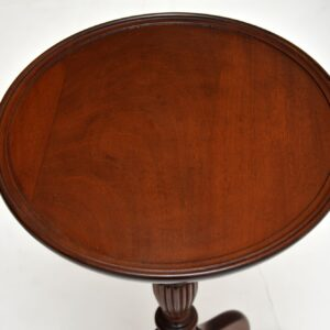 pair of antique mahogany wine side tables