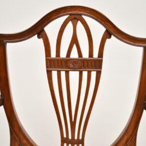 set of twelve 12 antique sheraton georgian shield back mahogany dining chairs