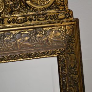 antique brass art nouveau mirror