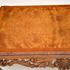 antique burr walnut queen anne coffee table
