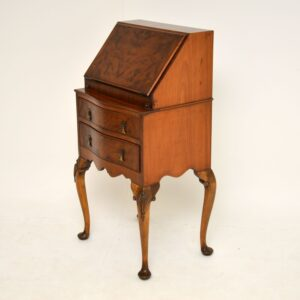 Small Antique Edwardian Mahogany Bureau on Legs