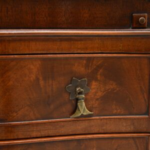 antique edwardian flame mahogany bureau on legs