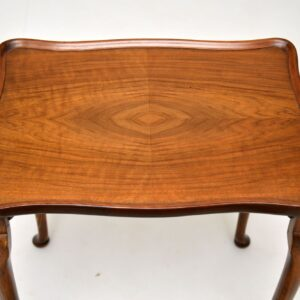 antique pie crust walnut nest of three tables