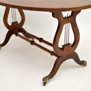 antique regency flame mahogany coffee table