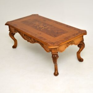 antique french inlaid marquetry coffee table