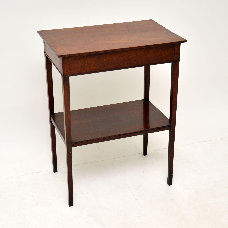 antique georgian mahogany side table