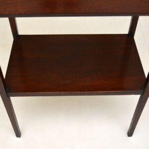 Original Antique Georgian III Mahogany Side Table